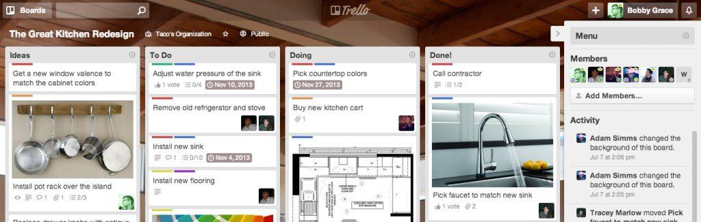 Trello - projektplanering online